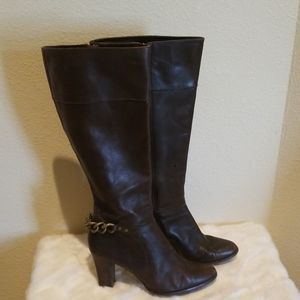 Harold's Brown Heeled Boots Size 6
